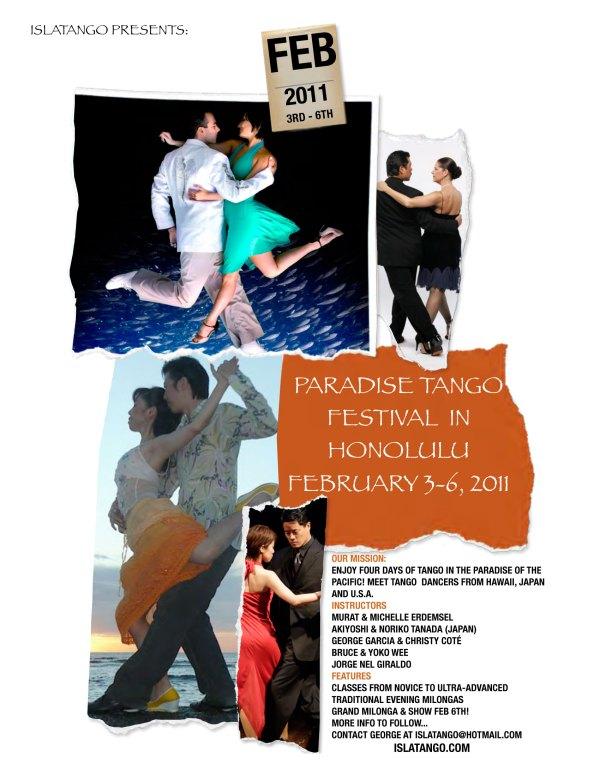 Hawaii Paradise Tango Festival Feb 3-6 2011